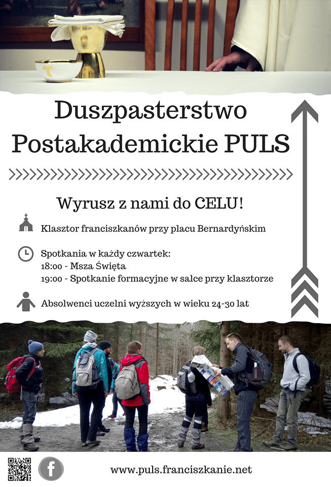Plakat Duszpasterstwo Postakademickie PULS